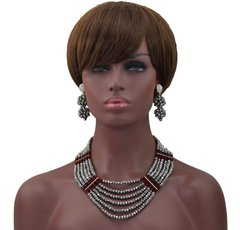 Zeze2 African Nigerian Beads Wedding Necklace Set
