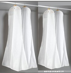 EA0001B_ 180cm Wedding Dress Cover, Bridal Garment Long Clothes Waterproof Dustproof Storage Bag, Garment Bag