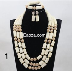 TG10076 Natural Coral beads necklace set