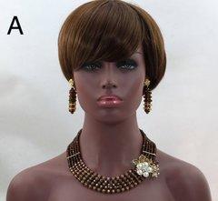 AZ201SABA African Nigerian necklace set