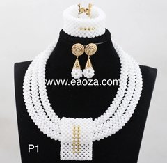 ZE1Z23 Crystal and Coral beads necklace set