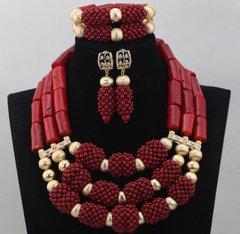 DD28 African Nigerian Wedding Necklace Set
