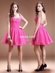 EA00031_ High Quality Long Evening Dress, Prom Dress -beading and crystal belt made of honour dress