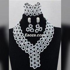ZE100Z1 African Nigerian Beads Wedding Necklace Set