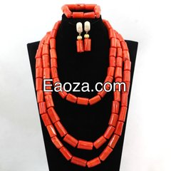 ZE10ZE 100% Genuine Coral beads necklace set