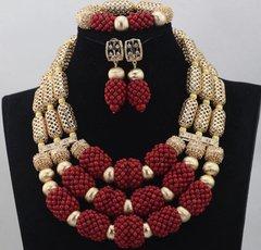 DD29 African Nigerian Wedding Necklace Set