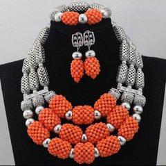 DD301 African Nigerian Wedding Necklace Set