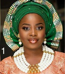 AD105R1 African Nigerian Ball Beads necklace set