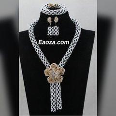 Ze100ze African Nigerian Beads Wedding Necklace Set