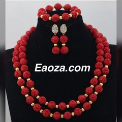 ZE100Z3 Artifical Curved Beads Beads Wedding Necklace Set