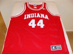 #44 INDIANA Hoosiers NCAA Basketball Red Throwback Team Jersey