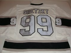 #99 WAYNE GRETZKY Los Angeles Kings NHL Centre White Throwback Jersey
