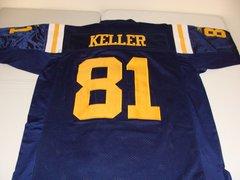 #81 DUSTIN KELLER New York Jets/Titans NFL TE Blue Throwback Jersey