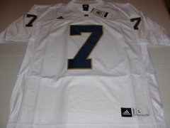 #7 NOTRE DAME Fighting Irish NCAA Football White Mint Throwback Jersey