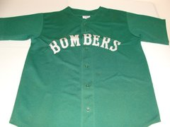 #9 BOMBERS League Baseball Green Throwback Team Jersey