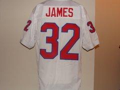 #32 CRAIG JAMES SMU Mustangs NCAA RB White Throwback Jersey
