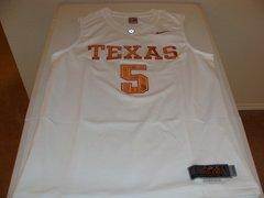 #5 TEXAS Longhorns NCAA Basketball White Throwback Team Jersey