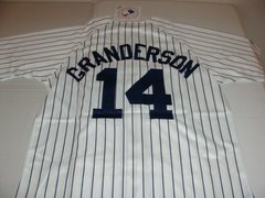 #14 CURTIS GRANDERSON New York Yankees MLB OF White PS Mint Throwback Jersey