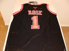#1 DERRICK ROSE Chicago Bulls NBA Guard Black Throwback Jersey