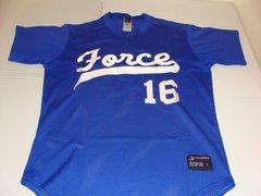 #16 FORCE League Baseball Blue Throwback Team Jersey