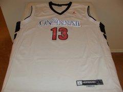 #13 CINCINNATI Bearcats NCAA Basketball White Throwback Team Jersey