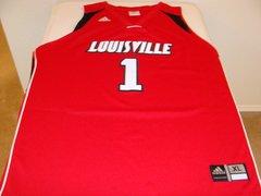 #1 LOUISVILLE Cardinals NCAA Basketball Red Throwback Team Jersey