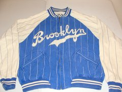 BROOKLYN DODGERS MLB Blue/White Throwback Reversible Team Jacket