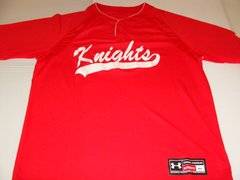 KNIGHTS League Baseball Red Throwback Team Jersey