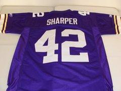 #42 DARREN SHARPER Minnesota Vikings NFL Safety Purple Throwback Jersey