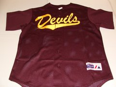 ARIZONA STATE Sun Devils NCAA Baseball Red Throwback Team Jersey