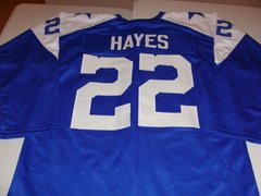 #22 BOB HAYES Dallas Cowboys NFL WR Blue L/S Throwback Jersey