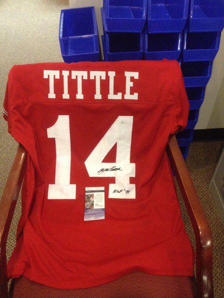 differently 0f137 02c75 san francisco 49ers 14 y.a.tittle red throwback jersey