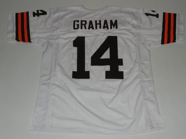 14 otto graham cleveland browns nfl qb white throwback