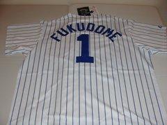#1 KOSUKE FUKUDOME Chicago Cubs MLB OF White PS Mint Throwback Jersey