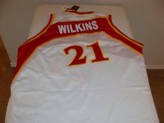 #21 DOMINIQUE WILKINS Atlanta Hawks NBA Forward White/Red Mint Throwback Jersey
