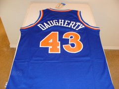 #43 BRAD DAUGHERTY Cleveland Cavaliers NBA Center Blue Throwback Jersey