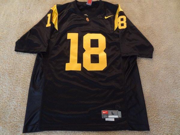stitched ncaa jersey 18 usc trojans ncaa football black throwback jersey