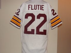#22 DOUG FLUTIE Boston College Eagles NCAA QB White Throwback Jersey