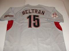 #15 CARLOS BELTRAN Houston Astros MLB OF Grey Throwback Team Jersey