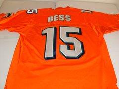 #15 DAVONE BESS Miami Dolphins NFL WR Orange Throwback Jersey