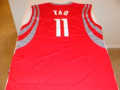#11 YAO MING Houston Rockets NBA Center Red Adidas Throwback Jersey