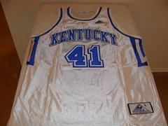 #41 KENTUCKY Wildcats NCAA Basketball White Throwback Team Jersey