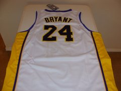#24 KOBE BRYANT Los Angeles Lakers NBA Guard White NBA Finals Throwback Jersey
