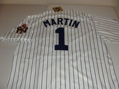 #1 BILLY MARTIN New York Yankees MLB 2B/Manager White PS 1951 WS Mint Throwback Jersey