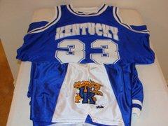 #33 KENTUCKY Wildcats NCAA Basketball Blue Throwback Team Jersey and Shorts SET