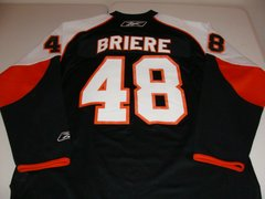 #48 DANIEL BRIERE Philadelphia Flyers NHL Centre Black Throwback Jersey