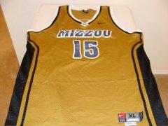 #15 MISSOURI Tigers NCAA Basketball Gold Throwback Team Jersey