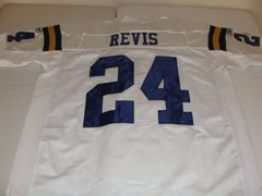 #24 DARRELLE REVIS New York Jets/Titans NFL CB White Throwback Jersey