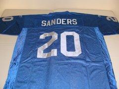 #20 BARRY SANDERS Detroit Lions NFL RB Blue Rbk Throwback Jersey