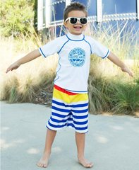 Pacific Stripe Swim Trunks